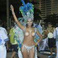 A ex-BBB Ariadna se tornou a primeira transsexual a desfilar como rainha de bateria de um escola de samba. Ela atravessou a Sapucaí, em 2013, à frente dos ritmistas da Unidos Vila de Santa Tereza