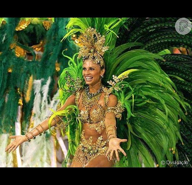 Grazi Massafera foi rainha de bateria da Grande Rio em 2007 (foto) e 2008. Confira outros famosos que já desfilaram nos sambódromos do Rio de Janeiro e São Paulo!