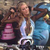 Paris Hilton comemora 33 anos com bolo de princesa em boate de Florianópolis