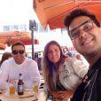 André Marques viajou para os Estados Unidos com amigos