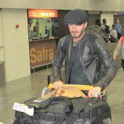 David Beckham desembarca no RJ e aparece sem camisa em hotel