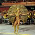 Sabrina Sato brilhou como madrinha da Gaviões da Fiel representando a Bola de Ouro