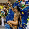 Sabrina Sato usou fantasia de onça no desfile da Vila Isabel