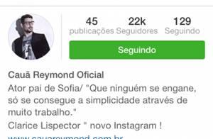 Cauã Reymond aciona Justiça para processar dono de perfil falso no Instagram