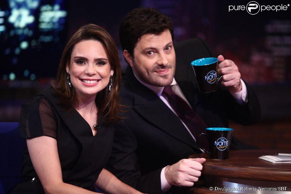Rachel Sheherazade foi entrevistada por Danilo Gentili no 'The Noite' desta quarta-feira (12 de março de 2014)
