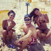 Yanna Lavigne e Sheron Menezzes mostram boa forma em dia de praia com amigos