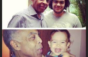 Preta Gil posta foto de Gilberto Gil no aniversário dos netos: 'Pai, te amo!'