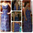 Figurino de novela: o vestido longo e azul de Clara (Giovanna Antonelli) é da Zas