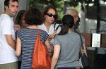 Ex-mulher de José Wilker vai ao apartamento da namorada do ator com a filha