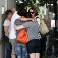 Renée Vielmond foi acompanhada da filha, Mariana, de 34 anos
