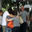 Renée Vielmond, ex-mulher de José Wilker, foi ao apartamento da namorada do ator na tarde deste sábado, 5 de abril de 2014