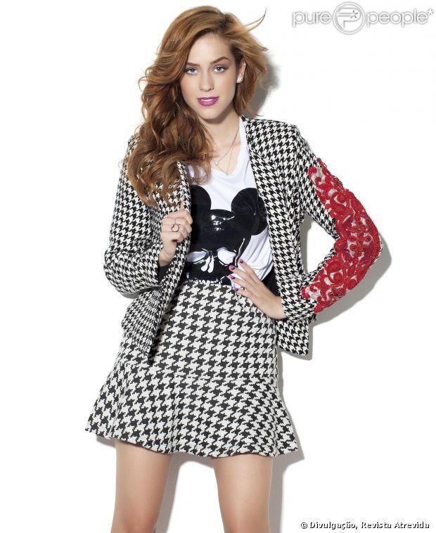 Sophia Abrahão é o destaque da revista 'Atrê Fashion' de maio de 2014