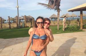 Luiza Tomé faz reeducação alimentar e corre na areia fofa para manter corpão