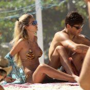 Yasmin Brunet aproveita feriado com marido na praia do Leblon