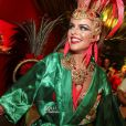 A atriz brilhou na Sapucaí no Carnaval carioca deste ano como um dos destaques da Grande Rio