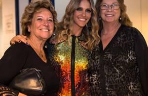 Fernanda Lima recebe mãe e sogra nos bastidores do 'SuperStar' após o programa