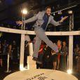Lázaro Ramos, que faz parte do elenco da novela 'G3R4ÇÃO Br4S1L', animou os convidados durante a festa de lançamento realizada no Circo Voador, na noite desta terça-feira, 29 de abril de 2014