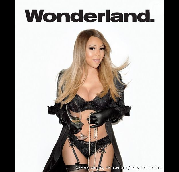 Mariah Carey posa sexy de lingerie para as lentes de Terry Richardson