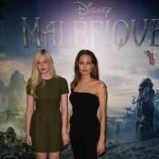 Angelina Jolie e Elle Fanning apresentam 'Malévola' em Paris