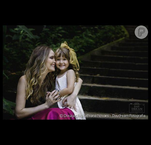 Fernanda Rodrigues posou com a filha, Luisa, de 4 anos