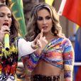 Claudia Leitte e Jennifer Lopez dançaram juntas em cima de um trio elétrico