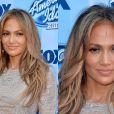 Jennifer Lopez deixou as sombras pesadas e surgiu com ar saudável com delineado marcado e muito bronze