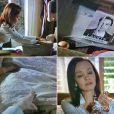 Helena (Julia Lemmertz) guarda recordações de seu passado com Laerte (Gabriel Braga Nunes), na novela 'Em Família'
