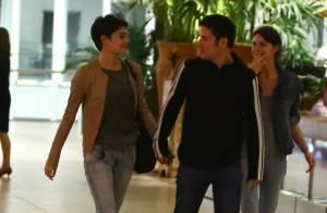 Sophie Charlotte passeia de mãos dadas com o namorado, Daniel de Oliveira, no RJ