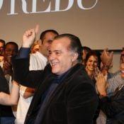 Elenco de 'O Rebu' aplaude Tony Ramos de pé e faz coro de 'Adocica' em coletiva