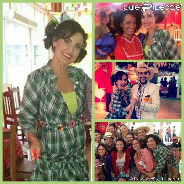 Fátima Bernardes se reúne com a sua equipe para festejar os dois anos do 'Encontro', nesta sexta-feira, 11 de julho de 2014