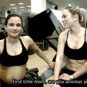 Aos 8 meses de gestação, Kyra Gracie ensina exercícios físicos para grávidas