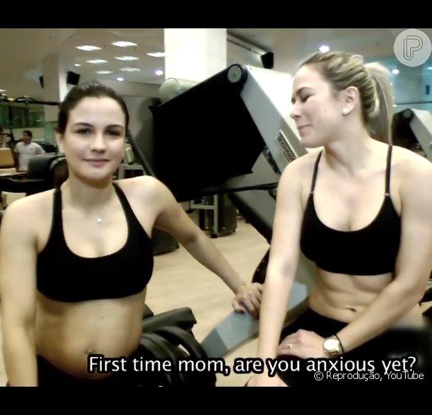 Kyra Gracie ensina exercícios físicos para gestantes em vídeo, em 24 de julho de 2014