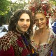 Milita (Cíntia Dicker) e Viramundo (Gabriel Sater) se casam, em 'Meu Pedacinho de Chão)