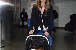 Luciana Gimenez desembarca com o filho caçula em SP após viagem a Nova York