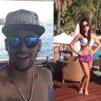 Neymar e Patrícia Jordane estão curtindo férias em Ibiza, na Espanha. 'Uma pena que terminou com Bruna Marquezine', lamenta a modelo, afirmando que ainda não encontrou com o jogador