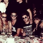 Paris Hilton e filho de Álvaro Garnero jantam com Zac Efron e Michelle Rodriguez