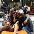 Claudia Leitte já começou a gravar o 'The Voice'. Cantora se reuniu com o time de jurados, Lulu Santos, Carlinhos Brown e Daniel