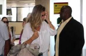 Gisele Bündchen está no Rio para café no 'Mais Você'. Top chegou de jatinho!