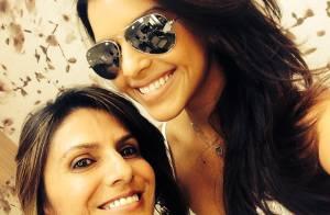 Mariana Rios volta a ser morena e ganha elogios do namorado: 'Está linda'