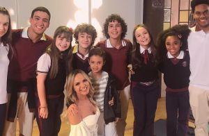 Eliana leva filho para conhecer elenco de 'As Aventuras de Poliana' no SBT. Foto