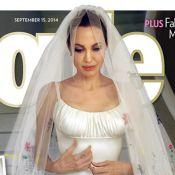 Angelina Jolie usou véu com desenho dos filhos em casamento com Brad Pitt. Fotos