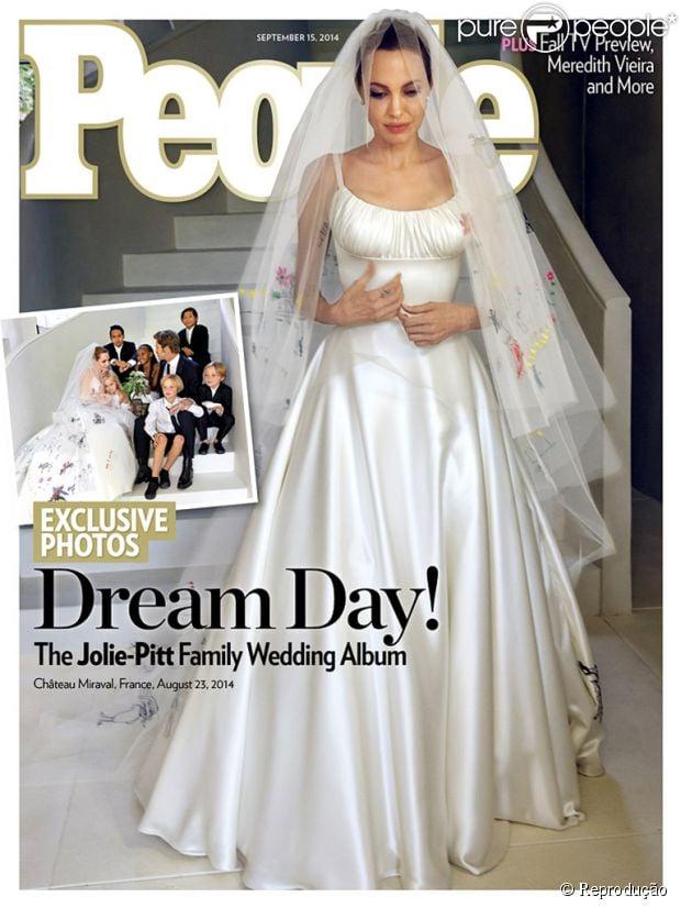 As primeiras fotos do casamento de Angelina Jolie e Brad Pitt são divulgadas em 1º de setembro de 2014