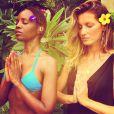Gisele Bündchen fez votos de silêncio por três dias. Modelo é adepta a meditação, pratica yoga e é muito ligada a questões ambientais