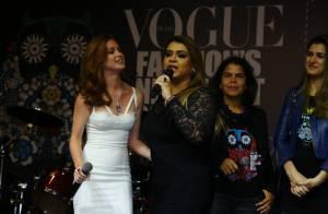 Marina Ruy Barbosa apresenta o show de Preta Gil no Vogue Fashion's Night Out