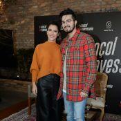 Luan Santana tem apoio de Jade Magalhães para escolher looks: 'Ajuda a montar'