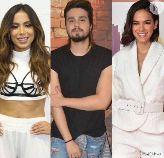 Luan Santana revela já ter ficado com Bruna Marquezine e Anitta, em 28 de novembro de 2018