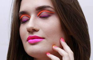Sombra colorida e make neon são o máximo para as baladas do verão