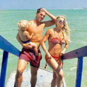 Karina Bacchi e Amaury Nunes aproveitam lua de mel em Alagoas