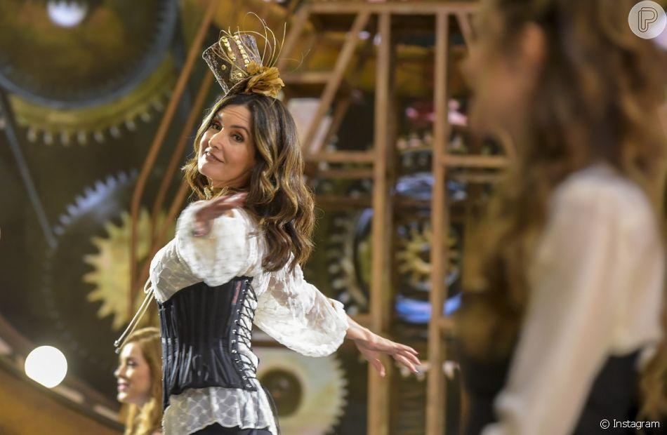 Fátima Bernardes dançou com Wanessa Camargo no palco do 'Encontro' nesta sexta-feira, 7 de dezembro de 2018