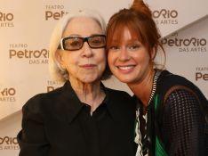 Marina Ruy Barbosa prestigia Fernanda Montenegro em inauguração de teatro. Fotos